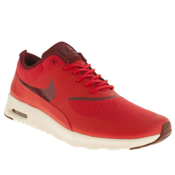 Womens Nike Red Air Max Thea Trainers