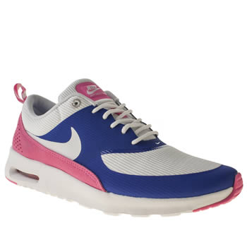 womens nike white & blue air max thea trainers