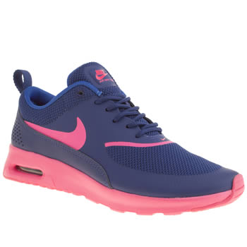 womens nike blue air max thea trainers