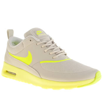 womens nike light grey air max thea trainers