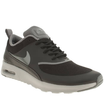 Womens Nike Black & Grey Air Max Thea Trainers