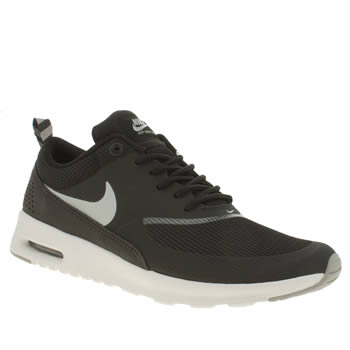 womens nike black & white air max thea trainers