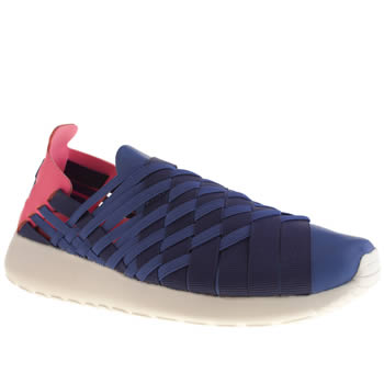Womens Nike Blue Roshe Run Woven Trainers