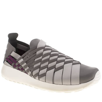 Womens Nike Grey Roshe Run Woven Trainers
