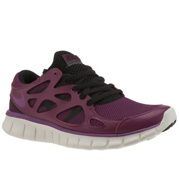 Womens Nike Burgundy Free Run V2 Ext Trainers