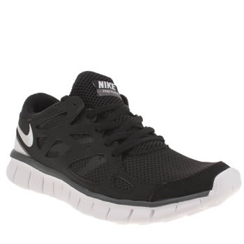 Womens Nike Black & White Free Run V2 Ext Trainers