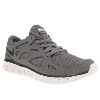 Womens Nike Grey Free Run V2 Ext Trainers