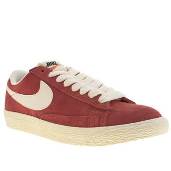 womens nike red blazer low trainers