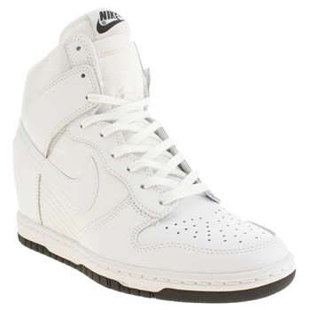 Womens Nike White Dunk Sky Hi Trainers