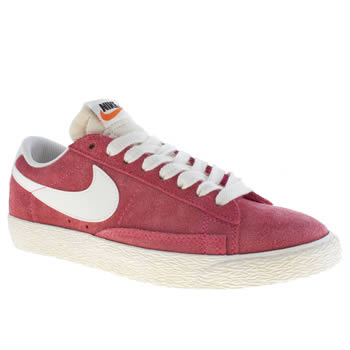 womens nike red blazer low iii vintage trainers