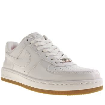 womens nike white ultra force low trainers