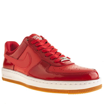 Womens Nike Red Air Force 1 Ultra Force Low Trainers
