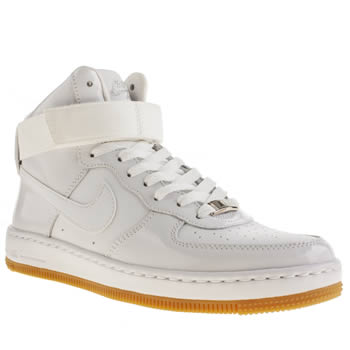 Nike White Air Force 1 Ultra Force Mid Trainers
