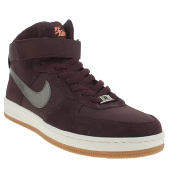 Nike Burgundy Af1 Ultra Force Mid Trainers