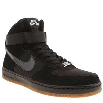 Womens Nike Black Air Force 1 Ultra Force Mid Trainers