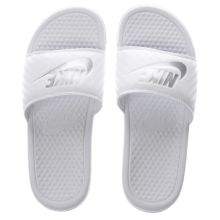 Nike White Benassi Pool Slide Sandals