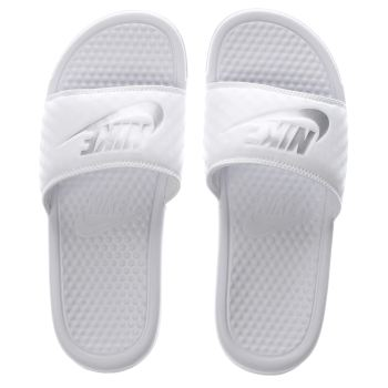 Womens Nike White Benassi Pool Slide Sandals
