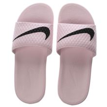 Nike Pale Pink Benassi Pool Slide Womens Sandals