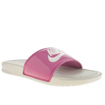 Womens Nike Pink Benassi Pool Slide Sandal Sandals