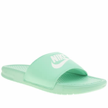 Nike Turquoise Benassi Pool Slide Sandals