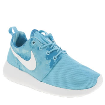 Womens Nike Blue Roshe Run Trainers