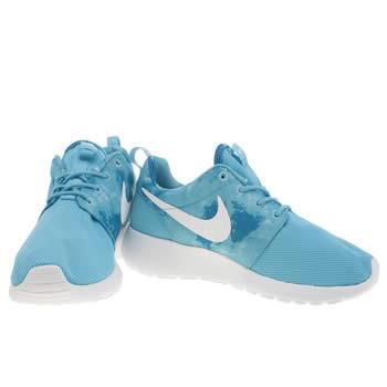 nike roshe run trainers blue