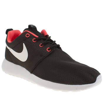 Women's Black Pink Nike Roshe Run Trainers | schuh,XITLXHE967,nike roshe run 1