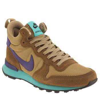 Nike Light Brown  Internationalist Mid Trainers