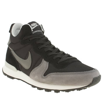 Nike Black & Grey Internationalist Mid Trainers