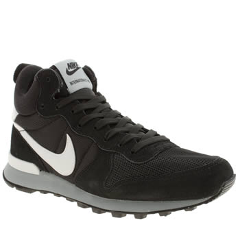 Nike Black & White Internationalist Mid Trainers
