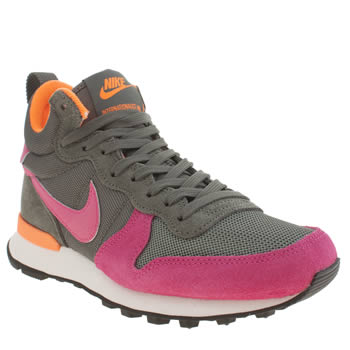 Womens Nike Dark Grey Internationalist Mid Trainers
