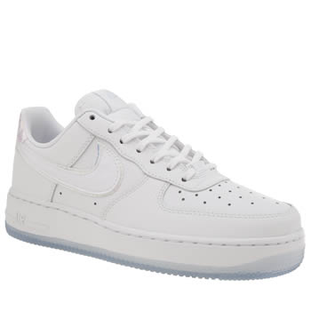 Nike White & Blue Air Force 1 Low Womens Trainers