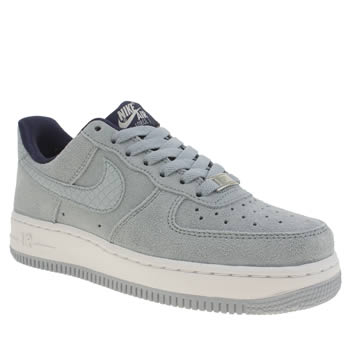Womens Nike Pale Blue Air Force 1 Low Trainers
