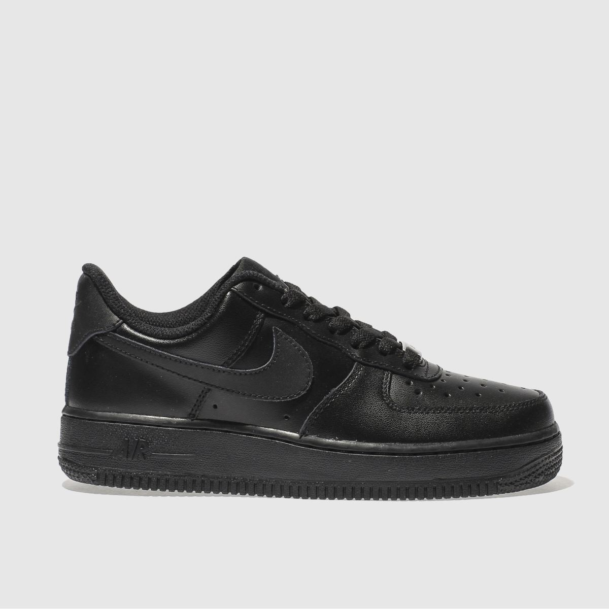 nike black air force 1 low trainers