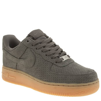 Womens Nike Dark Grey Air Force 1 Low Trainers