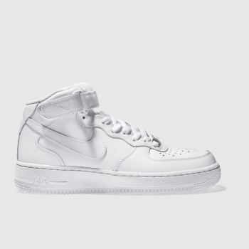 Nike White Air Force 1 Mid Womens Trainers
