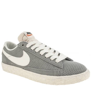 Womens Nike Light Grey Blazer Low Suede Vintage Trainers