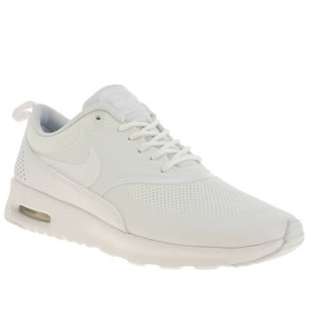 Womens Nike White Air Max Thea Trainers