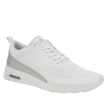 Nike White & Silver Air Max Thea Trainers
