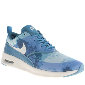 Nike White & Blue Air Max Thea Print Trainers