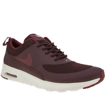 Nike Burgundy Air Max Thea Textile Trainers