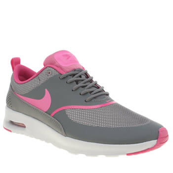 Nike Grey & Pink Air Max Thea Trainers