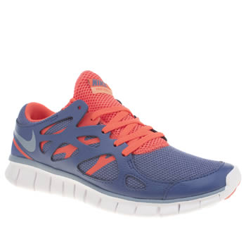 Womens Nike Blue Free Run 2 Ext Trainers