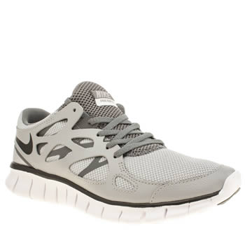 Womens Nike Grey Free Run 2 Ext Trainers