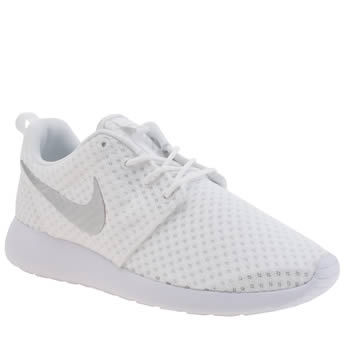 Nike White Roshe Run Breeze Trainers