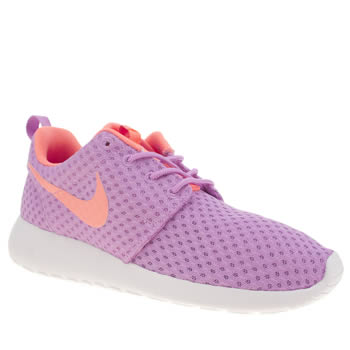 Womens Nike Purple Roshe Run Breeze Trainers