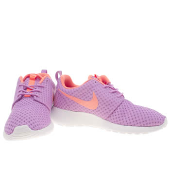 blue and purple nike roshes