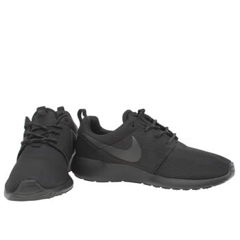 Cheap Outlet Womens Nike Roshe Run NM Flyknit Running Shoes Black