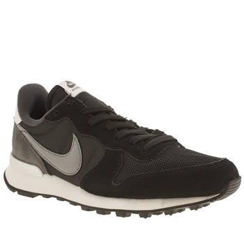 Nike Black & Grey Internationalist Trainers