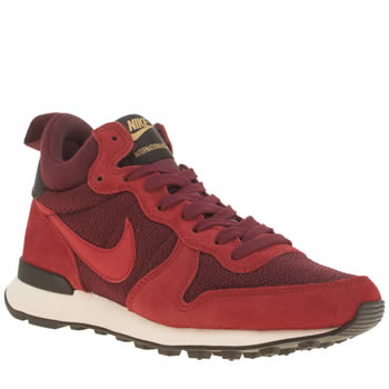 Nike Red Internationalist Mid Trainers